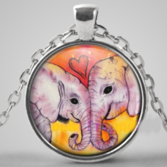Jewelry - Necklace- NEW- Elephant Love Heart